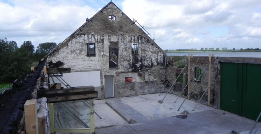 Herberg Tiengemeten na brand en sloopwerk