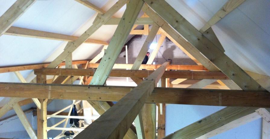 Herberg Tiengemeten spantconstructie met dak