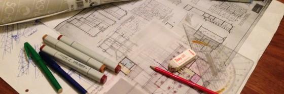 de schetsrol op de bouwtekening!